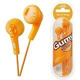 UKDapper JVC HAF160 Orange Gumy Bass Boost Stereo Headphones for iPod, iPhone, MP3 and Smartphone