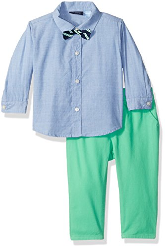 The Children's Place Baby Boys' Dressy Shirt and Pants Set, Easter Egg Green 69734, 6-9 - Easter Clothes