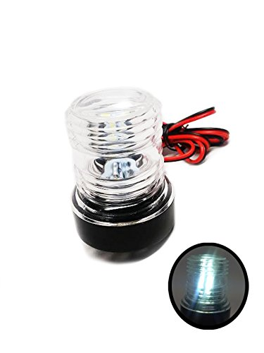 Pactrade Marine 12V Marine Boat Yacht Navigation Anchor Light 360 Degree All Around 12 White LED Splashproof by Pactrade Marine