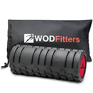 WODFitters Muscle Foam Roller for Trigger Point Massage and Recovery with eGuide (Black, 13-Inch)