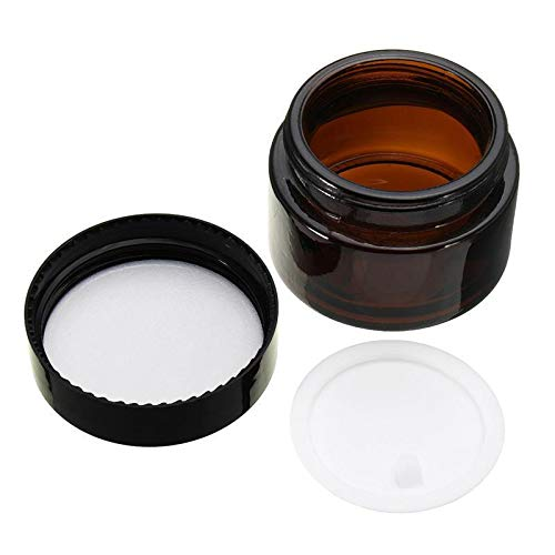 Jar With Lid - Hot Sale 5g/10g/20g/30g/50g Glass Cream Jar,cosmetic Container,cosmetic Jar Black Lid Glass ()