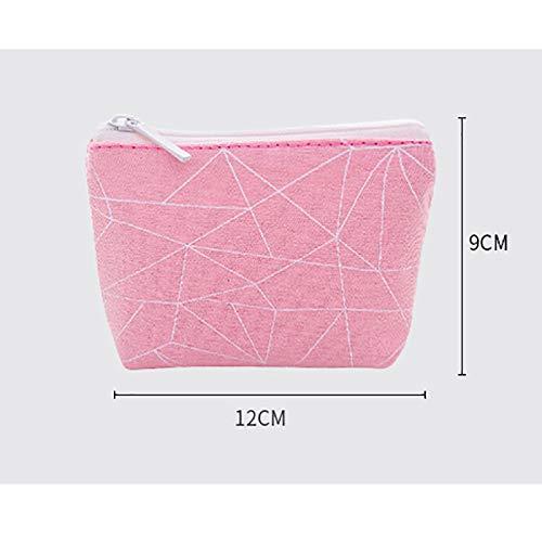71adcfec7f73 Amazon.com: Joyfeel buy 1Pc Zipper Purse Triangular Color Block ...