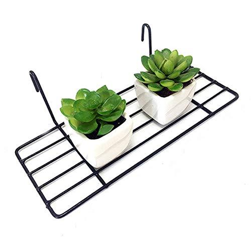 Straight Shelf Rack for Gridwall Grid Panel Wall Mountable Wire Organizer Storage Flower Pot Display Decor 9.8