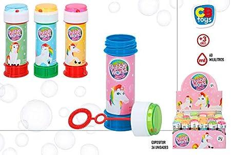 Pompero Unicornio con Juego (1) - Pomperos Pompas de Jabón para Niños, Regalos Cumpleaños y Detalles de Comuniones: Amazon.es: Hogar