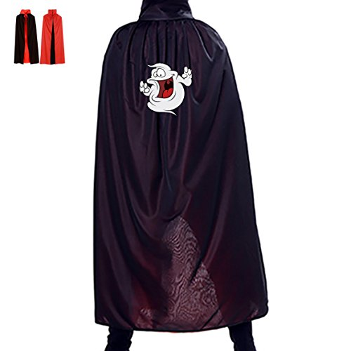 Kids Ghostly Ghoul Costumes (Halloween Cape Wicked Ghostly Unisex Hooded Costume Wizard Cloak)