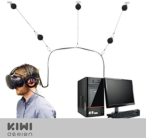 5 Packs Retractable Cable Management for HTC VIVE Ceiling Suspension System Mount for Virtual Reality Headset by KIWI design