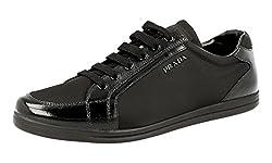 Prada Women S 3e5892 Black Saffiano Leather Sneaker Eu 40 Us 10