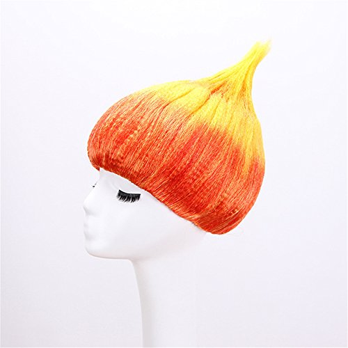 12'' Short Wig Bob Cosplay for Halloween Party Hair Costume Fire Image Up to Top Style Flame Wig 8 Colors (Color Mixed) ()
