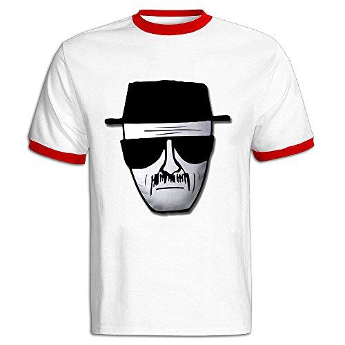 [NINJOE Men's Classical Breaking Bad Heisenberg Logo Running Short T-shirt Red S] (Bad Habit Costumes)
