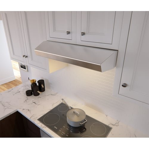 Zephyr AK1200B 400 CFM 30 Inch Wide Under Cabinet Range Hood from the Breeze II, Stainless Steel Zephyr Cabinet