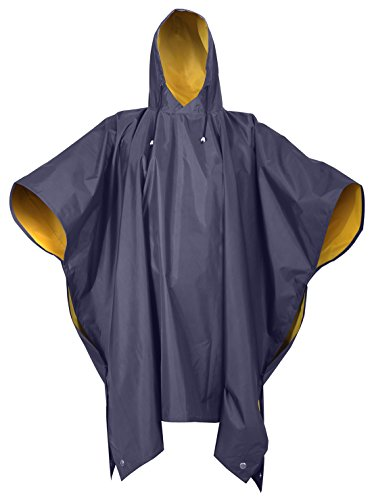 - Rothco Reversible PVC Poncho, Navy Blue/Yellow