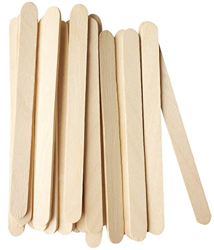 Korlon 200 Pcs Craft Sticks Ice Cream Sticks Wooden Popsicle Sticks 4-1/2