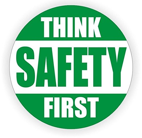1 Pcs Expert Popular Think Safety First Car Sticker Sign Helmet Rescue Committee Place Emergency Permit Size 2