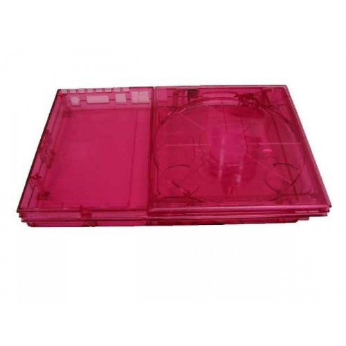 PS2 Slim Flip Top GhostCase Kit - Clear Pinkish/Red