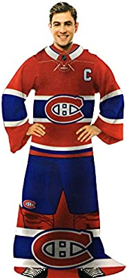 NHL Montreal Canadiens Blanket with Sleeves - Habs Comfy Throw Blanket
