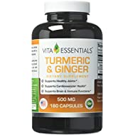 Vita Essentials Turmeric & Ginger 500 Mg Capsules. 180 Count