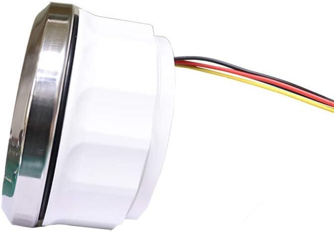 MOTOR METER RACING W Pro Boat Car Tachometer Hour Meter 6000 RPM Programmable Marine Waterproof Black Dial White LED Boat