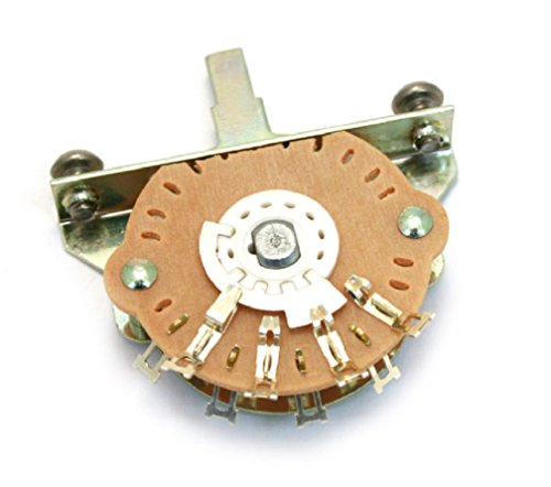 Telecaster 5 Way Switch - Oak Grigsby 5-way Blade Switch w/ Mounting Screws