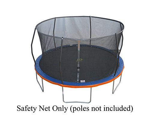 14' Replacement Trampoline Safety Net Fits Walmart Models: TR-146U-FLX, Tr-1686-TPR & 14' Tr-1463a-flex-fz, 5F60753, with 6 Curved/pole Ring Enclosures (Net Only - Poles & Trampoline NOT ()