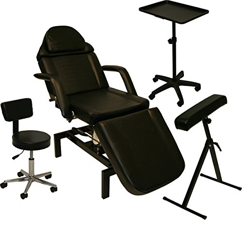 InkBed Tattoo Package Hydraulic Table Chair Arm Bar Bed Tray Studio Salon Spa Equipment (Contemporary Arms Bar)