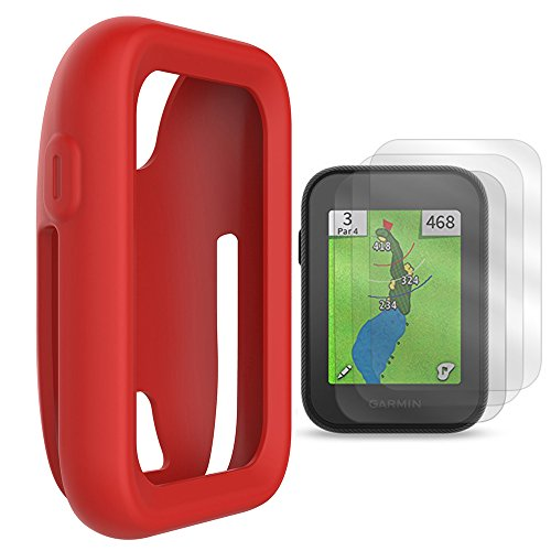 TUSITA Protective Cover for Garmin Approach G30 Handheld Golf GPS, Silicone Skin Case Accessories with Screen Protector (Red)