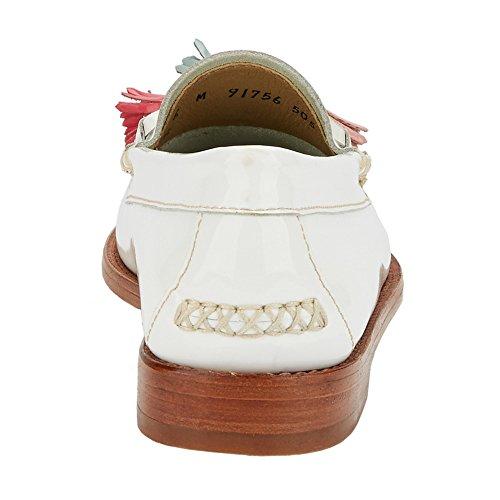 Gh Bass & Co. Gh Bas & Co. Kvinders Willow Penny Loafer Hvid Patent Leather Kvinders Pil Penny Dagdriver Hvid Laklæder mOqs7c