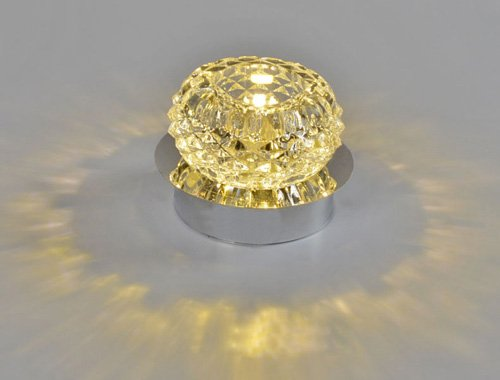 LUMINTURS 5w LED Crystal Ceiling Surface Mounted Light Fixture Modern Decor Lamp Warm White