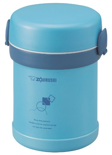 Zojirushi SL-MEE07AB Ms. Bento Stainless Lunch Jar, Aqua Blue, One size,
