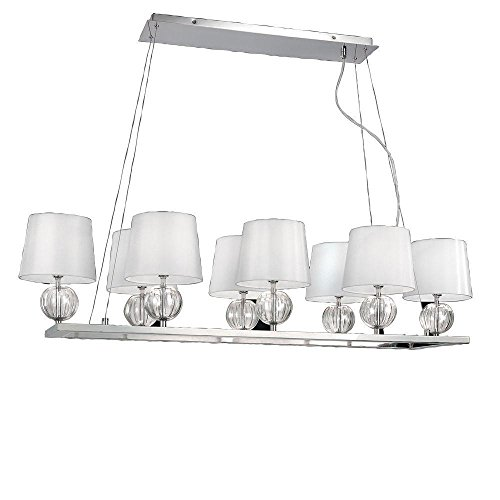 Speranza 8 Light Pendant in Chrome by World Imports