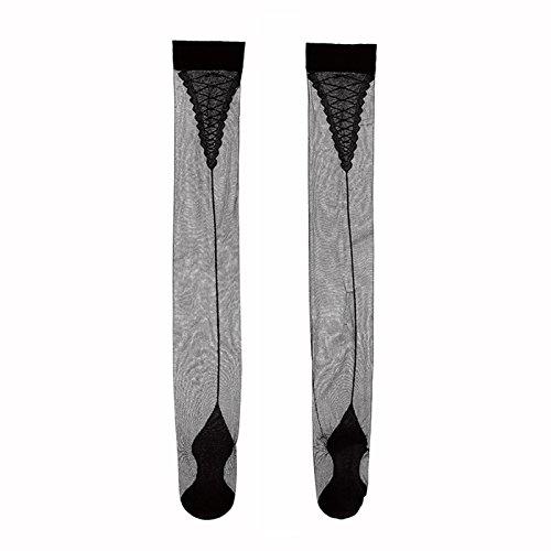 5efd5c4e554b0 Vintage Nylon Stockings Cuban Sheer Thigh Highs With Back Seam Heel ...