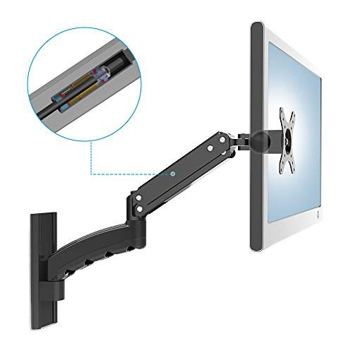 Articulating TV LCD LED Monitor Wall Mount, Full Motion Swivel Tilt Support 12'-22' Computer Monitor Plasma TV Flat Display Screen up to 11 lbs 17 inch Extension VESA 100x100 75x75 by JIUTAI