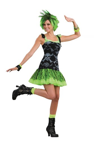 Forum To The Maxx Collection Funk Skulls Costume, Black/Green, Standard