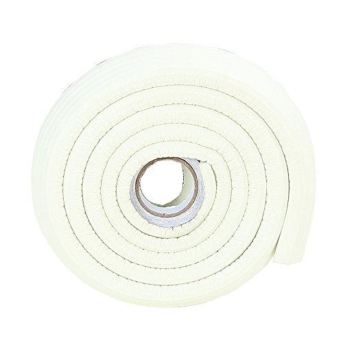 Price comparison product image 2x2M / 13ft White Rubber Baseboard Edge Protector Foam Edge Panel Cushion Bumper Cardboard Corner Guard