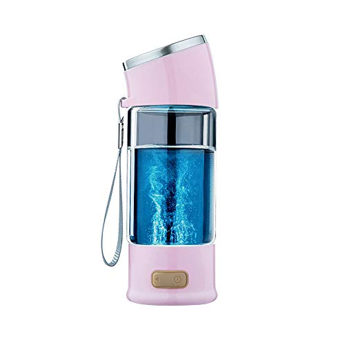 lky2 Rich Hydrogen Water Bottle Hydrogen Water Generator Rechargeable Portable Hydrogen Rich Water Ionizer Maker Generator (Pink,300ML) ()