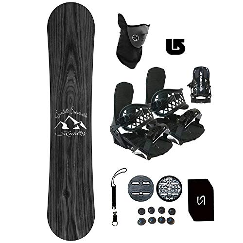 Symbolic 140-167cm Knotty Snowboard + Bindings Package