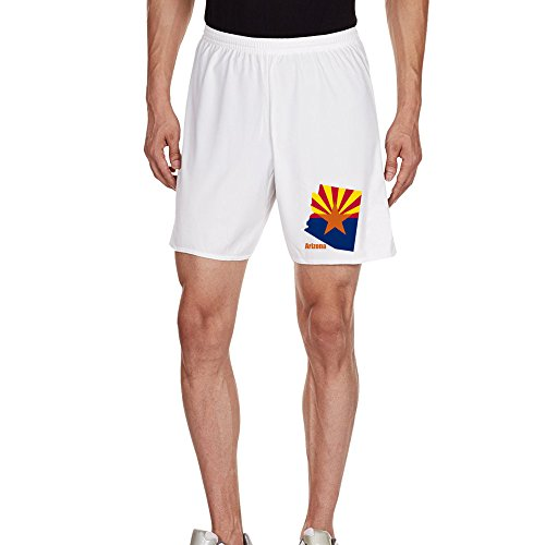 TopSeller Men's America Arizona Flag Map Casual Home Wear Shorts (Assorted Designs)