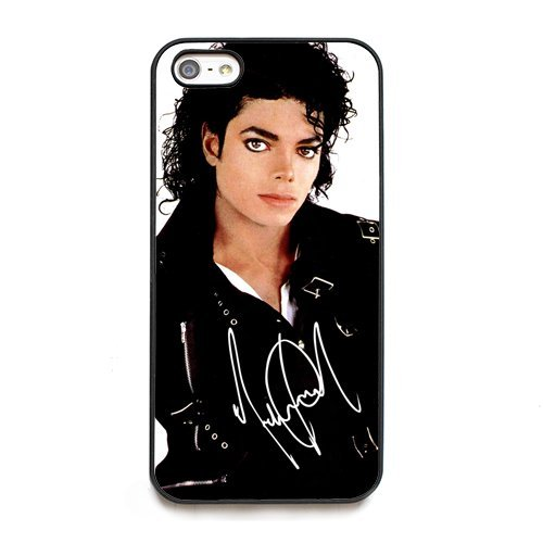 [Michael Jackson signed HD image case for iphone 5C black phone cover] (Michael Jackson Billie Jean Costumes For Kids)