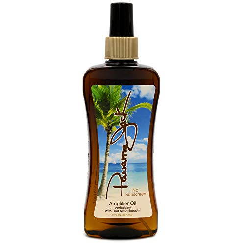 Panama Jack Amplifier Suntan Oil - Contains No Sunscreen Protection (0 SPF), Light Formula with Exotic Oils, Fruit and Nut Extracts, Tropical Fragrance, 8 FL OZ