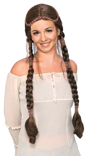 (Rubie's Brunette Renaissance Lady Wig with Braids, Brown, One)