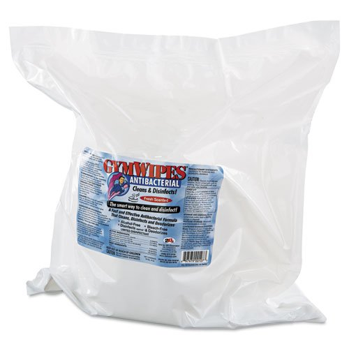 2XL - Antibacterial Gym Wipes Refill, 6 x 8, Fresh, 700 Wipes/Pack, 4 Packs/Carton L101 (DMi CT