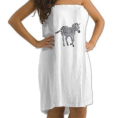 Zebra Prints Bath Towel Wrap Womens Spa Shower Wrap Towels Swimming Shawl Bathrobe Cover Up Ladies Girls - White
