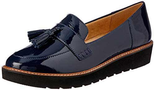 Naturalizer Women's August Oxford Flat, Navy, 7 M US