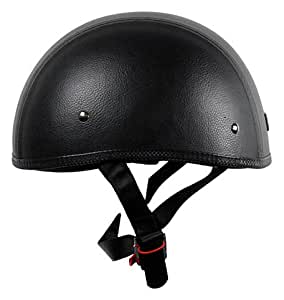 Vega XTS Naked Leather Half Helmet (Leather, X-Large)