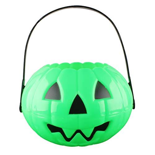 Funpa Pumpkin Bucket Cute Pumpkin Candy Bucket Halloween