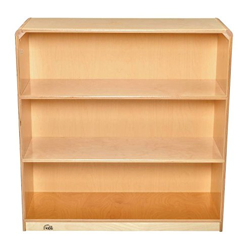 "picture of Korners for Kids 272167 Storage Cabinet, All-Birch Veneer Panel, 4-Coat UV Acrylic, 3 Shelf, 39-1/8"" x 14-1/4"" x 36"", Natural Wood Tone"