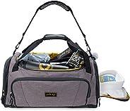 Gold BJJ Jiu Jitsu Duffle Bag - Waterproof Pocket for Sweaty Gi, Rashguard, or Shoes - The Perfect Duffel Bag