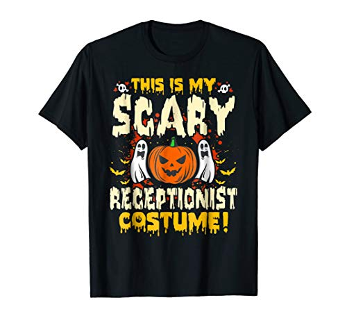 This is my Scary Receptionist Costume Funny Halloween TShirt -