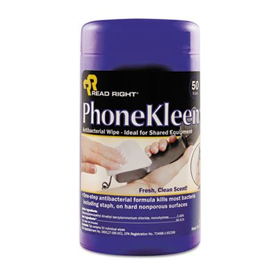 Phonekleen Wet Wipes Cloth (PhoneKleen Wet Wipes, Cloth, 5 x 6, 50/Tub, Total 12 EA, Sold as 1 Carton )