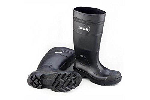 Men Size 8 Black PVC Plain Toe Boots