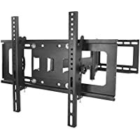 Sunydeal Tilt Swivel TV Bracket Wall Mount for Samsung Vizio Sony LG Sharp 30 32 39 40 42 43 46 47 48 49 50 55 60 65 70 inch Plasma LCD LED 4K Flat Panel Smart TV, Works for 16 inch Stud Wall